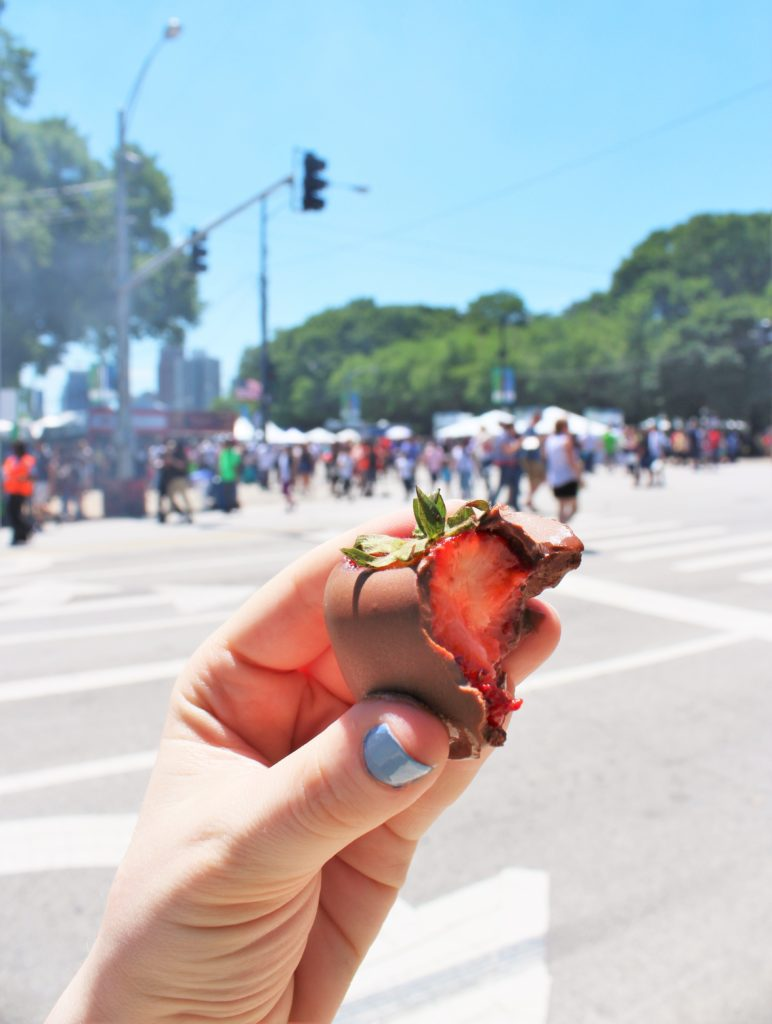 The Fudge Pot's chocolate-covered strawberry!