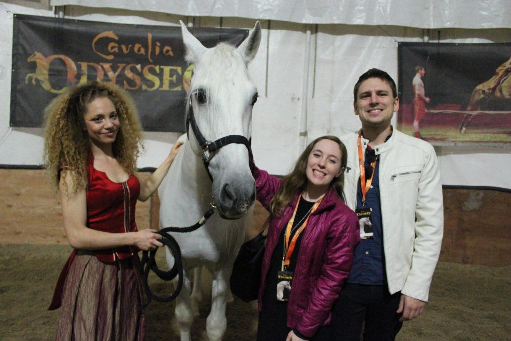 Cavalia VIP stable visit