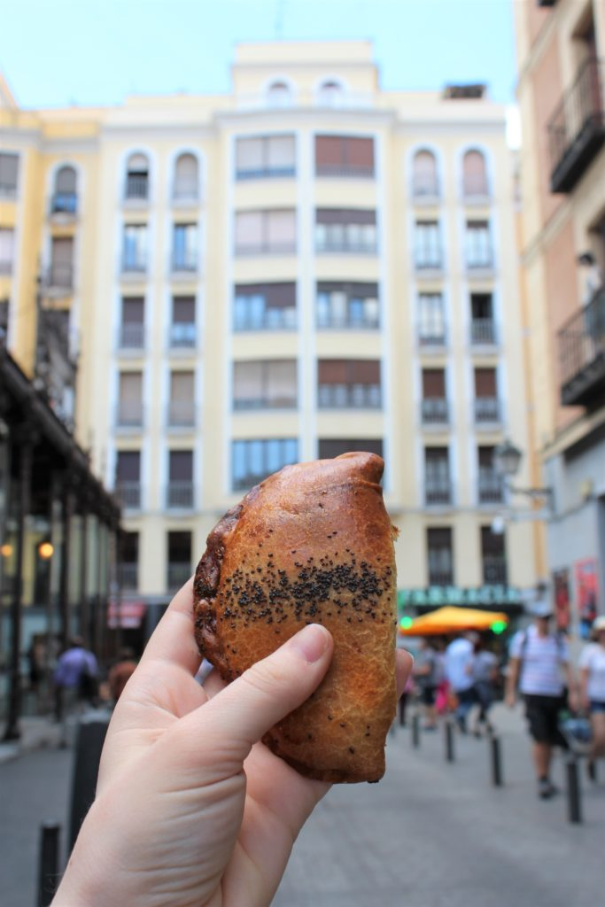 Ratatouiile empanada from Mercado de San Miguel in Madrid