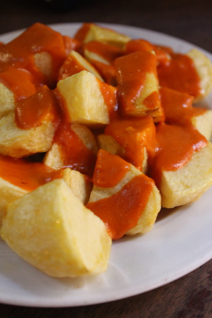 Patatas Bravas from Malaspina in Madrid