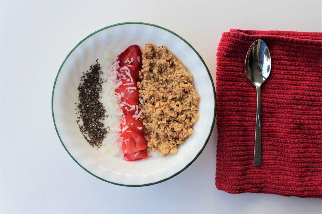Family Breakfast with maple cinnamon truRoots quinoa bowl
