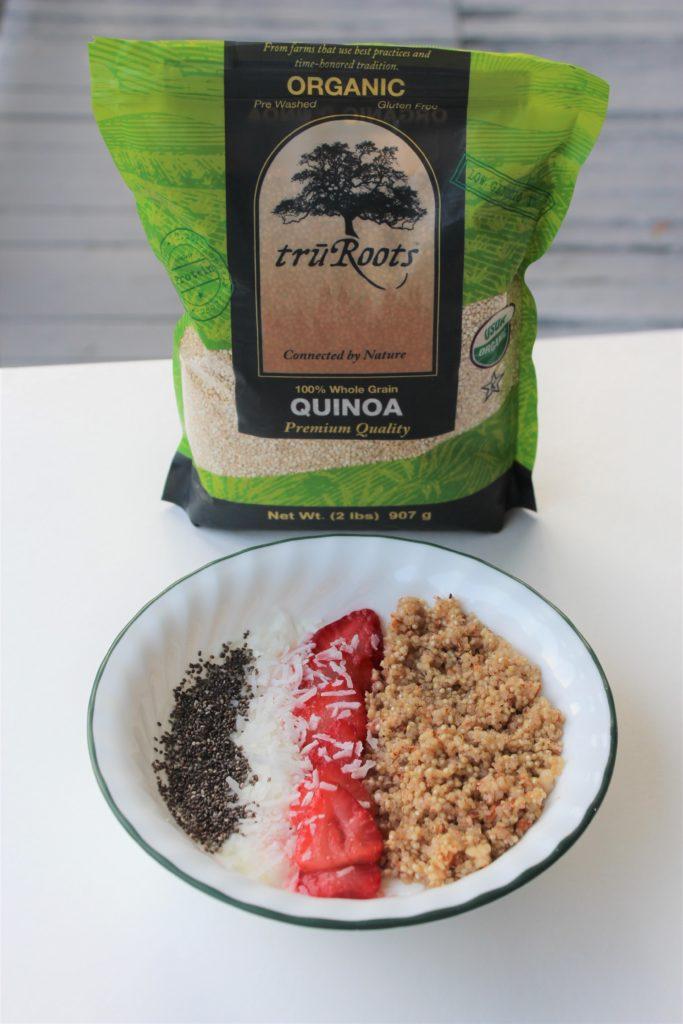 truRoots quinoa maple cinnamon bowl